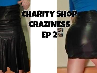 DIY- Leather Mini Skirt
