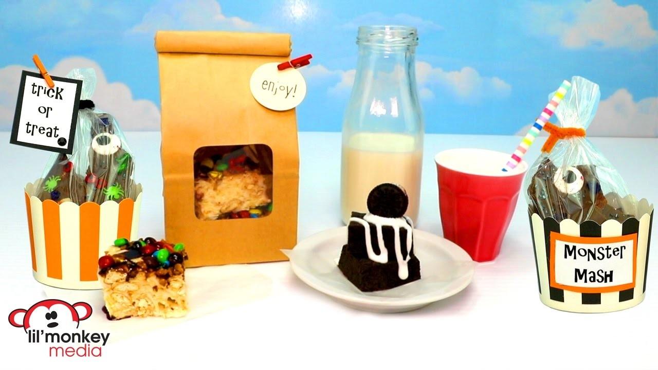 DIY Yummy Fun Easy Kid Snacks! Oreo Squares, Smash Snack, Halloween Chocolate Bark and Treat Cups!