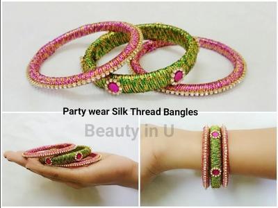 Easy Partywear Silk Thread Bangles | Tutorial