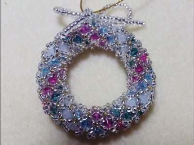 HOW TO MAKE CHRISTMAS WREATHS WHITH BEADS