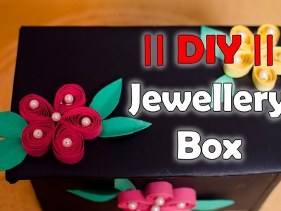 How to make Easy Jewellery Box From Card Board Box DIY