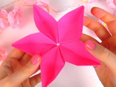 Origami Flower Sakura (5 sided flower)