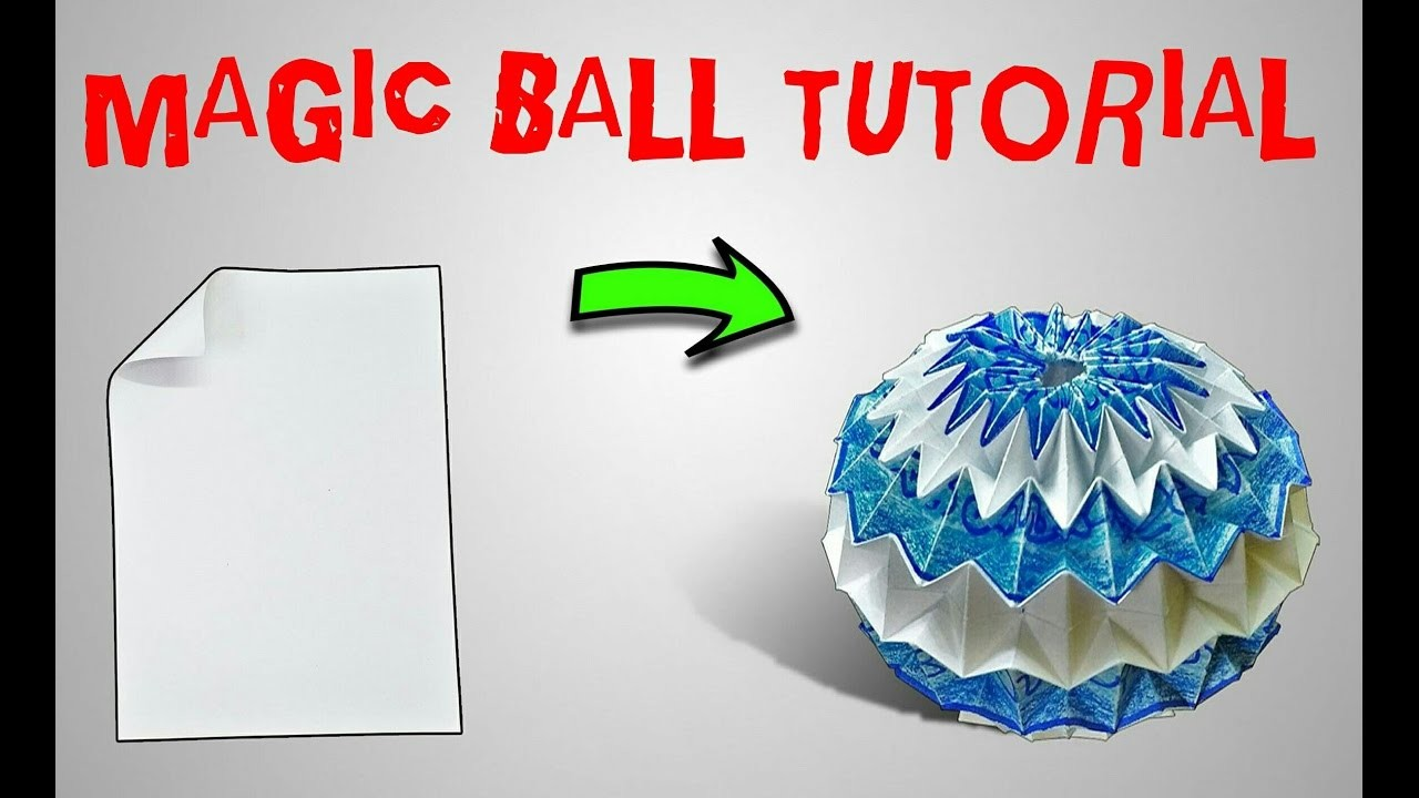 origami origami magic ball tutorial part 2 origami