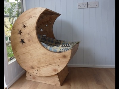 Pallet Wood Projects Bedroom - DIY Moon Cradle for Cats!