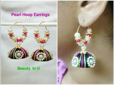 Pearl Hoop Silk Thread Earrings Tutorial