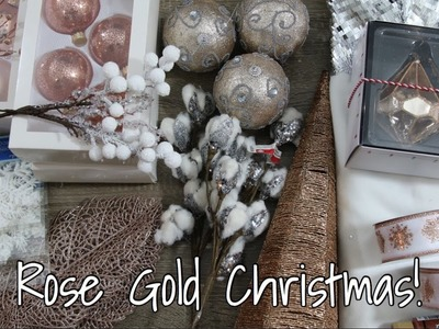 Rose Gold. Copper Christmas Home Decor Haul #2!