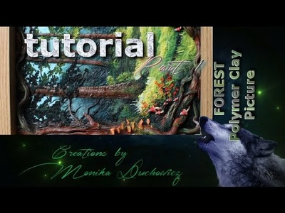 TUTORIAL -forest landscape Polymer clay painting technique part.1.2