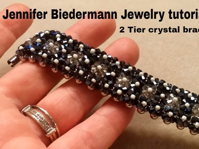 2 tier crystal bracelet tutorial