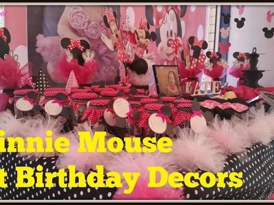 2016: DIY Minnie Mouse 1st Birthday