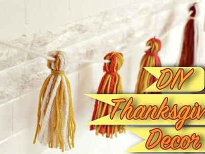 3 DIY last minute Thanksgiving Decorations !!!. DIY Yarn Garland and more