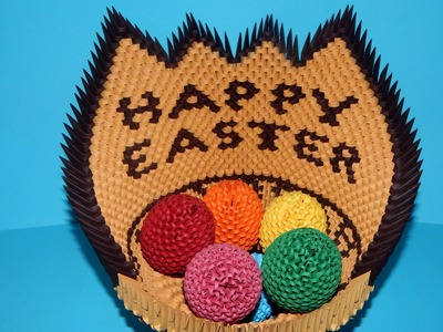 3D origami Easter basket tutorial part2