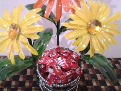 Best Out Of Waste Plastic Transformed to Decorative Sweet Container