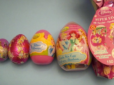 Disney Princess Surprise Eggs Learn Sizes from Smallest to Biggest!