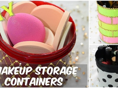 DIY 3 Cute & Easy Makeup Storage Containers( Using Scrap)