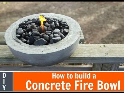 DIY Concrete Fire Bowl ; Simple Build!