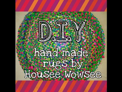 DIY- How to make rag rugs at home  in 5 minutes
