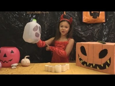 DIY milk jug ghost lanterns with Lil' Sunshiner
