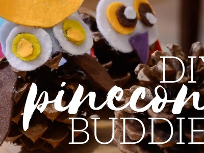 DIY Pinecone Buddies! | Tay from Millennial Moms