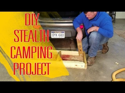 DIY stow away legs for STEALTH CAMPING bed