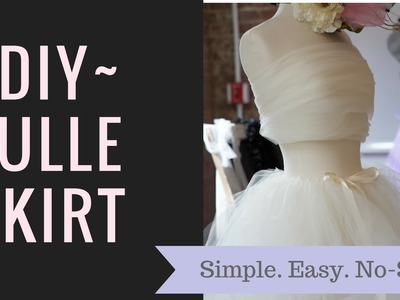 EASY, DIY Tulle Skirt, No Sew, Under $12
