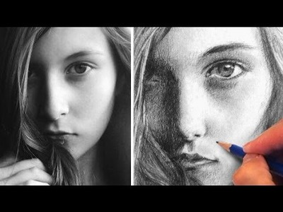 How to Draw a Pretty Face with Pencil - Julia