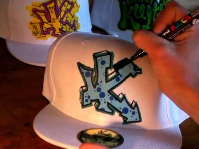 HOW TO GRAFFITI CAPS #5 draw paint graff hip hop new era hiphop street art rap music tutorial video