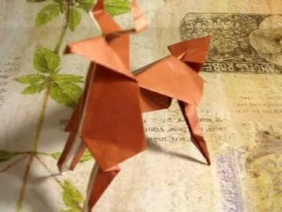 How to make an Origami Reindeer.