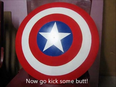 How to make Captain America's shield from used satellite dish