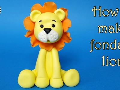 How to make fondant lion. Jak zrobić figurkę lwa z masy cukrowej
