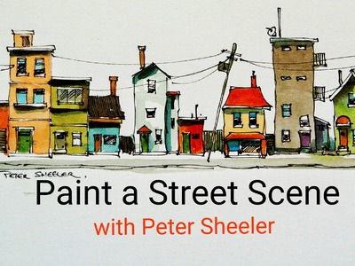 How to paint houses, buildings and a street scene with a water brush QUICK, EASY AND FUN