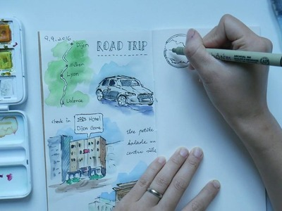 Journal with me - How I incorporate watercolors in my journal