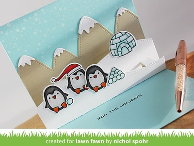 Lawn Fawn | Snow Cool Interactive Pop Up Card