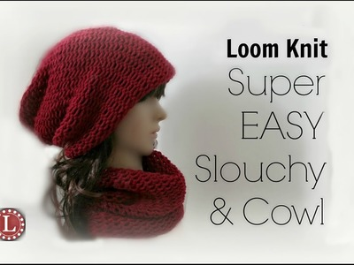 LOOM KNITTING Hat & Cowl for Beginners Step by Step : 1 Loom , 1 Ball, 1 Day