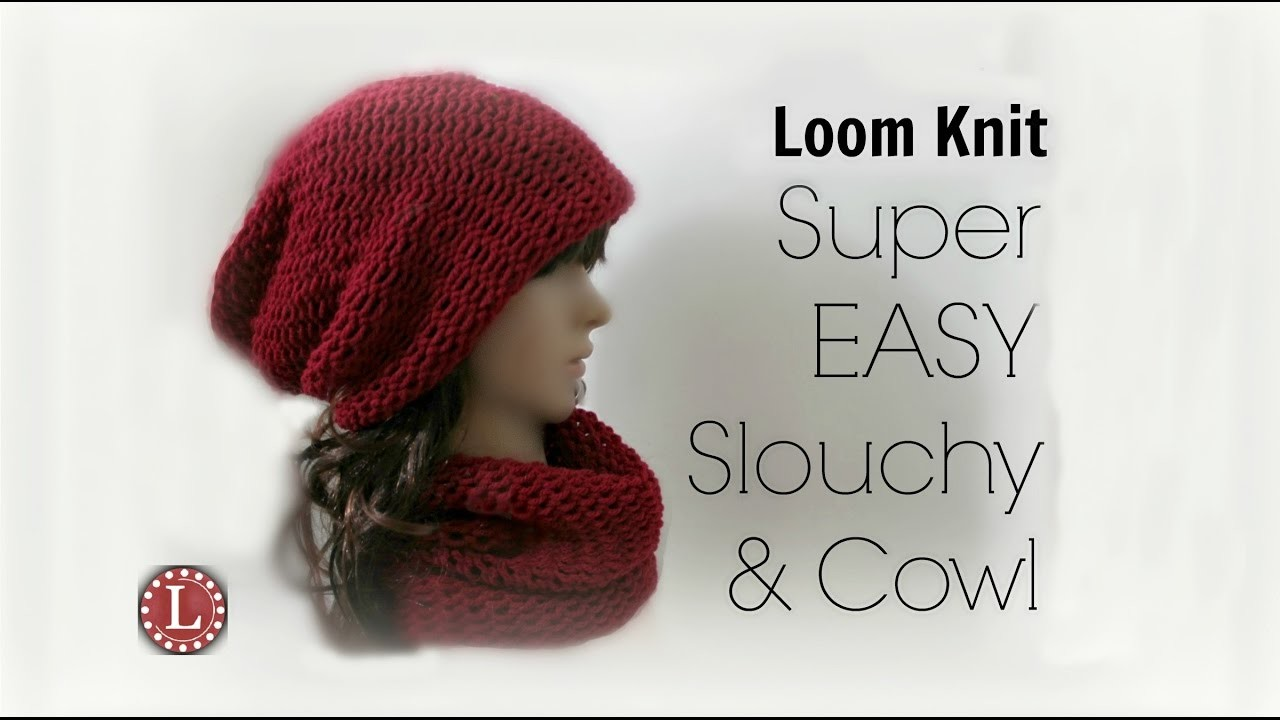 Loom Knitting Hat Cowl For Beginners Step By Step 1 Loom 1