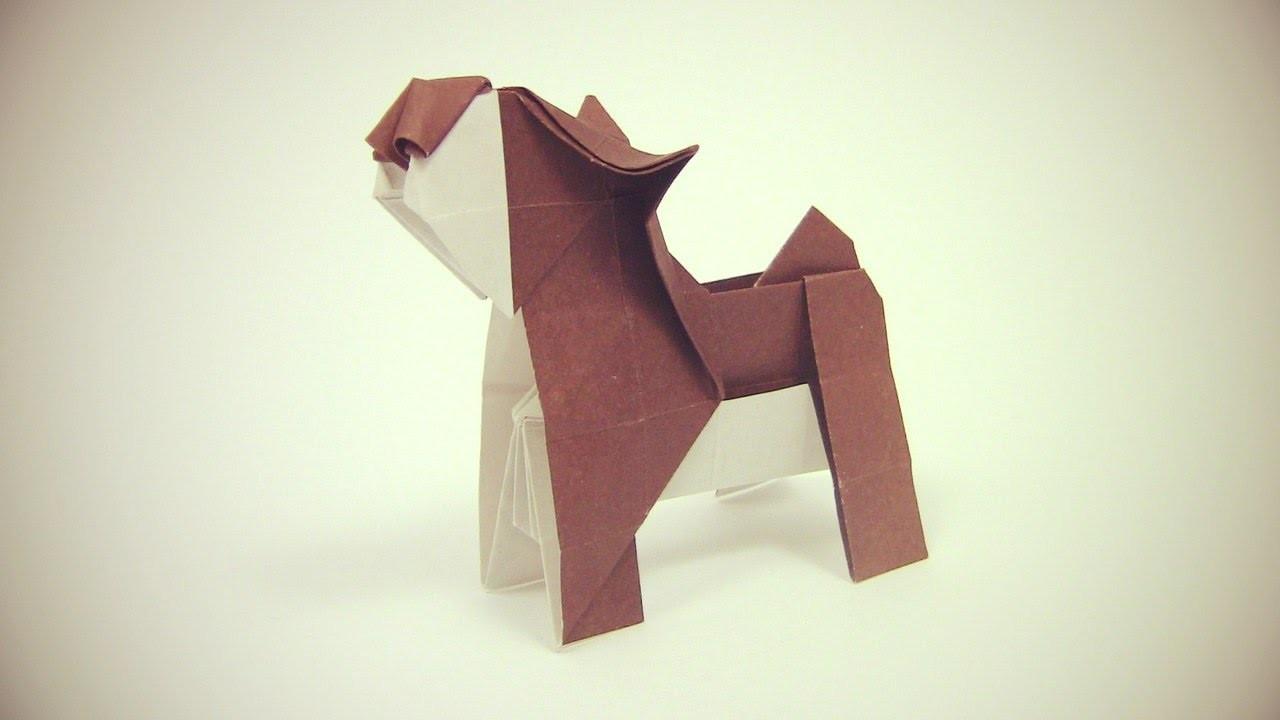 Origami Dog easy by Yakomoga   Como fazer um cão origami - Yakomoga Origami tutorial