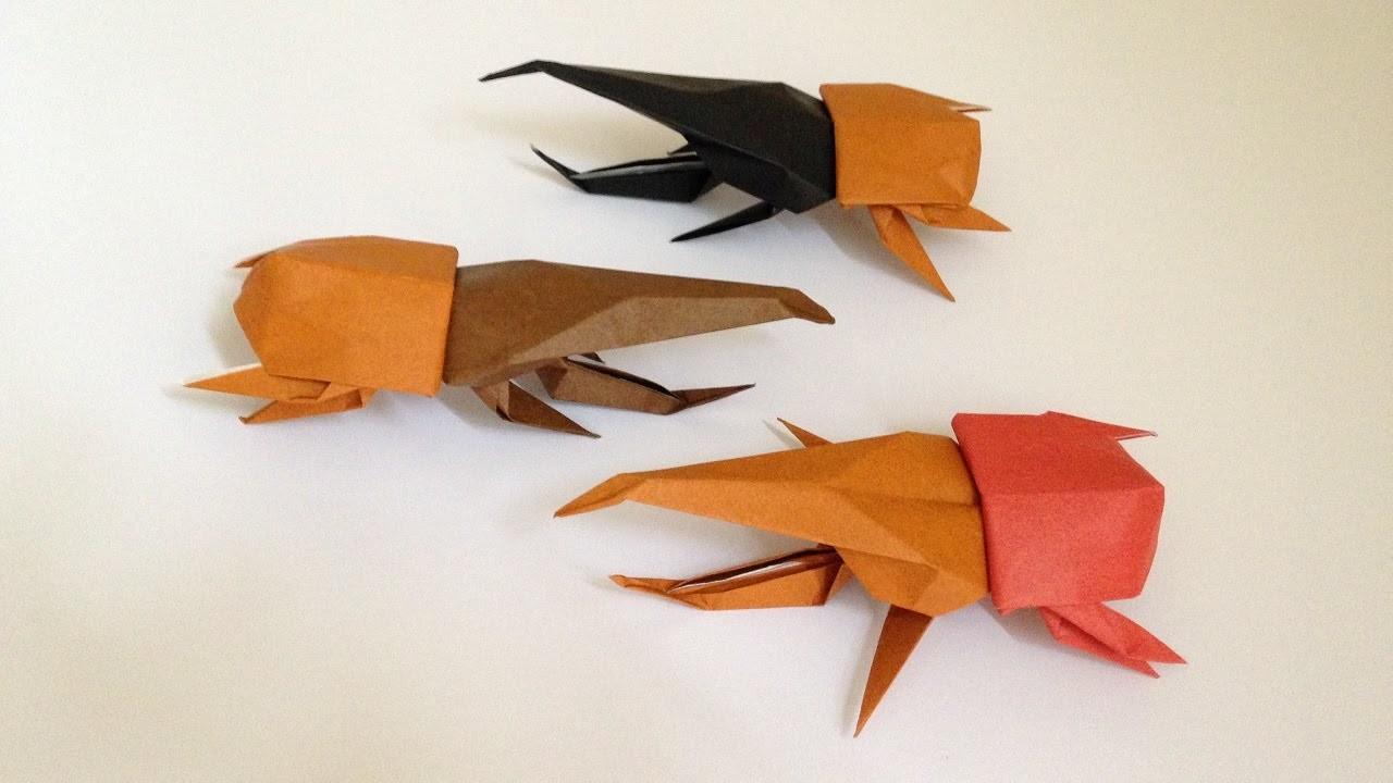 折り紙 ヘラクレス オオカブト