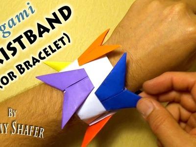 Origami Wristband. Bracelet Origami Holder
