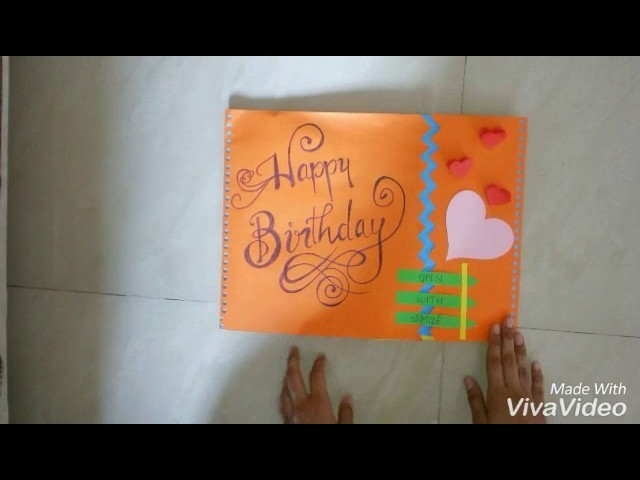 Scrapbook card for Birthday | Birthday card for mom