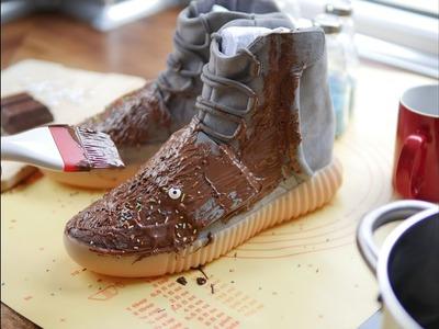 Sucuk Und Was 1 DIY Schuh - Yeezy 750 Chocolate. Light Brown