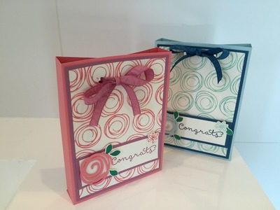 Swirly Bird Gift Bag Box - Video Tutorial using Stampin' Up UK products.