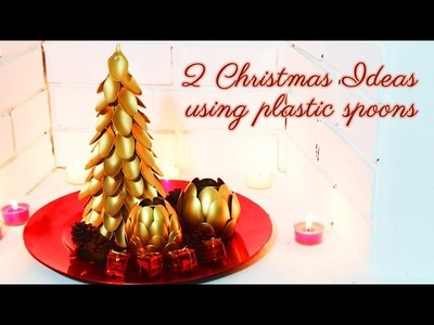 2 DIY ideas for Christmas using plastic spoons | Xmas crafts