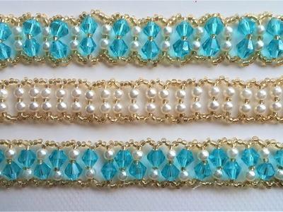 3 bracelets design - 1 pattern. Jewelry making for beginners