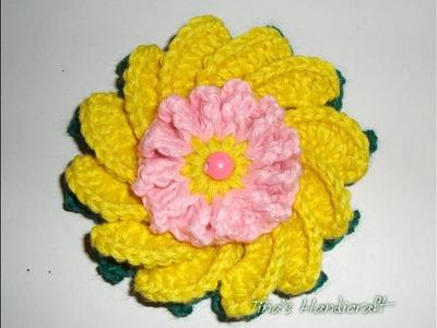 3d crochet flower No 6, part -1