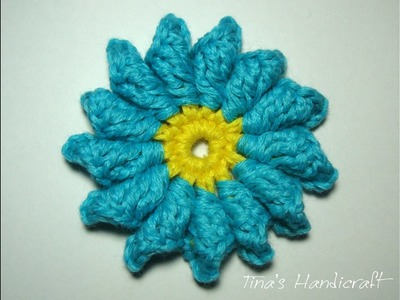 3d crochet flower No 7