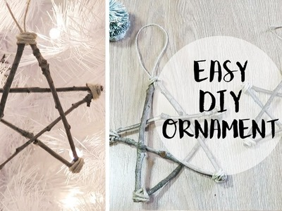 Affordable DIY Christmas Ornament | Natural Star with Sticks