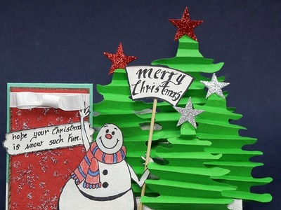 Amazing DIY Christmas Card - Stair Step Card for Holiday Greetings