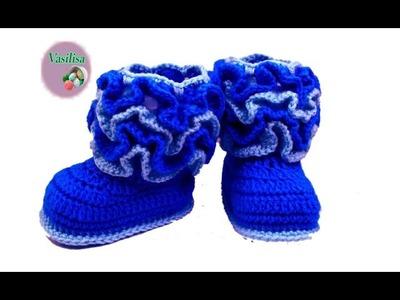 Baby booties crochet for beginners