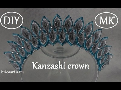 Christmas DIY.Kanzashi rim.Crown.MK.bricoart.kam