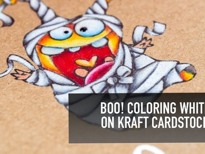Coloring White on Kraft Card Stock
