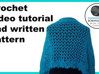 Crochet wedding shawl promotional video